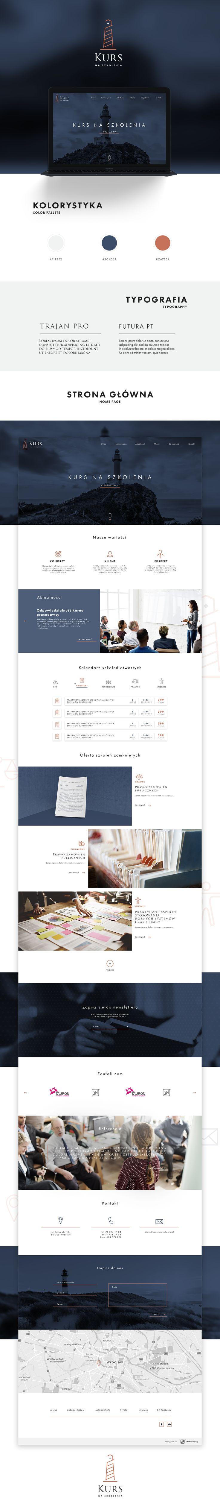"""Przejrzyj mój projekt w @Behance: """"Redesign Kurs Na Szkolenia"""" https://www.behance.net/gallery/44013015/Redesign-Kurs-Na-Szkolenia"""