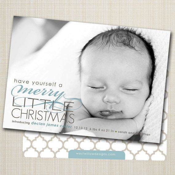 11 best holiday birth announcement images – Holiday Baby Announcements