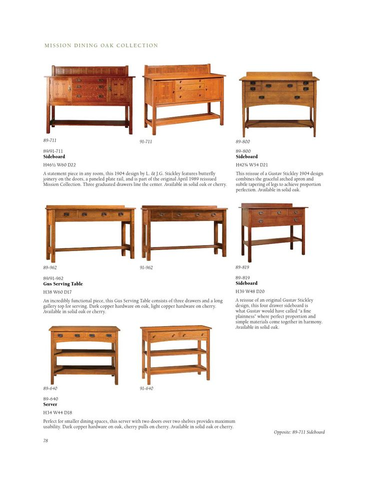 Stickley Mission Oak U0026 Cherry Collection. Furniture CatalogCherry
