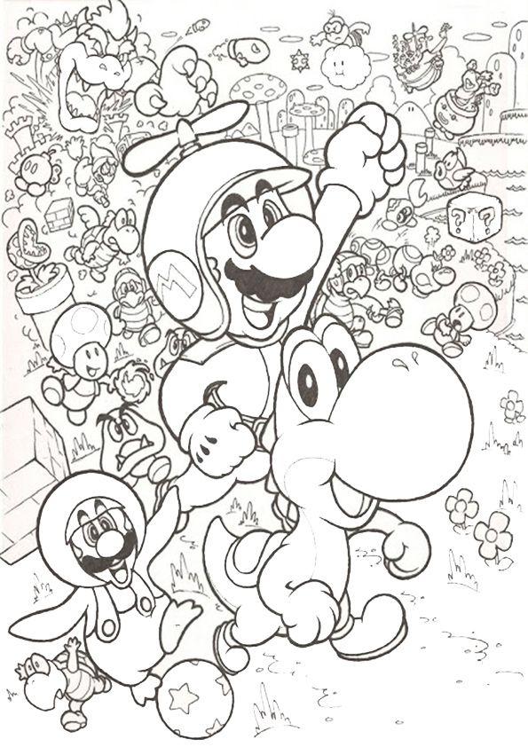 Ausmalbilder Schwer Super Mario