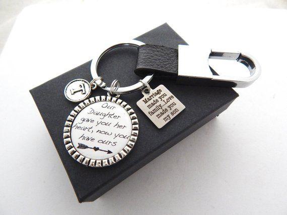 Son Gift In Law Keychain Wedding