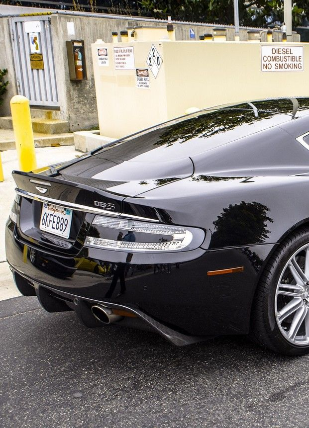 #8. The Aston Martin DBS... yes, make mine black, if you please (like the US-spec, California-registered example shown, exact vintage unknown): yes, exactly - thank you very much ;-)