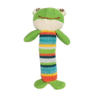 Lily & George have a sweet and fun collection of colourful knit toys that are full of character. These adorable waffle knit baby squeaker rattles are the perfect size for little hands and make a lovely gift. Eight fun characters to choose from, each stands at approximately 16.5cm tall