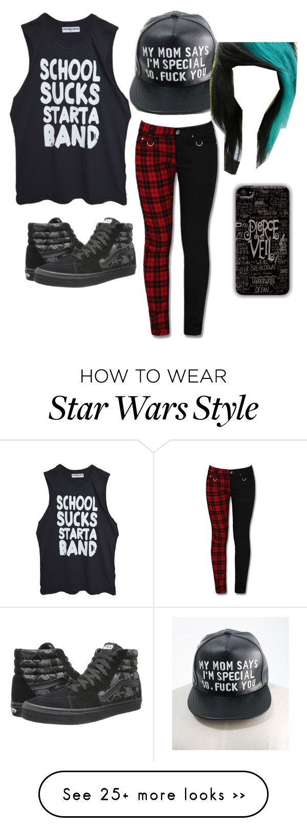 """Best Outfit to Wear to School "" by batman-101 on Polyvore featuring Vans"