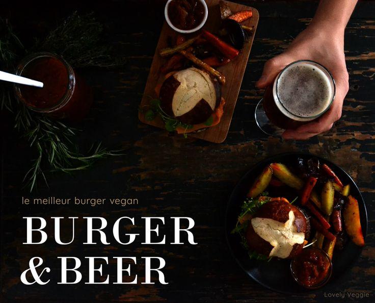 burger vegan sans gluten bière craft beer