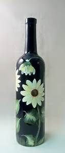 Recycled Wine Bottle Tea Light Candle Cover Hand Painted