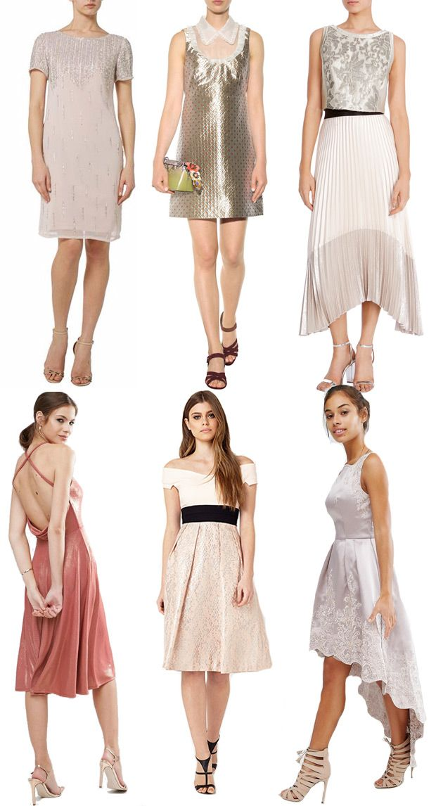 Muted Metallics // Autumn Wedding Guest Dresses // see all the looks at…