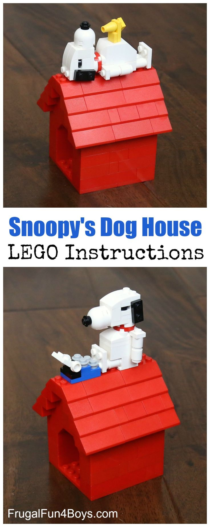 LEGO Building Instructions – Make Snoopy and his doghouse, and there is even a Woodstock too! Oh man, this might be our new favorite LEGO project!  The boys have been arguing over who gets to display it in their room, so I solved that conflict by saying that it's mine. 🙂 Gresham and I were...Read More »