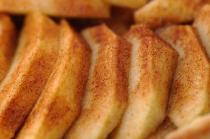 Baked Apple Packets - directions say to place on grill or campfire. I baked mine in toaster oven at 400 for 20 min turning once. YUMMY!