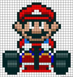 78 best pixel art images on pinterest pixel art beads and book minecraft pixel art mario kart papercraftstyle pronofoot35fo Image collections
