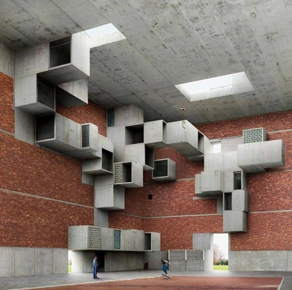 Filip Dujardin - digital photo montages of impossible structures.