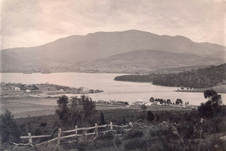 Tasmania: Very old photo of the Eastern Shore looking over to Hobart.
