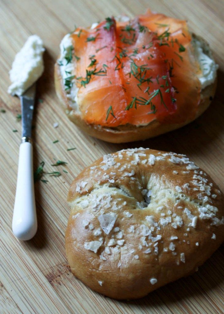 Make Bagels for Breakfast @ http://onevanillabean.com/2011/04/15/charcutepalooza-april-challenge-smoked-salmon-and-an-entirely-home-made-breakfast/#