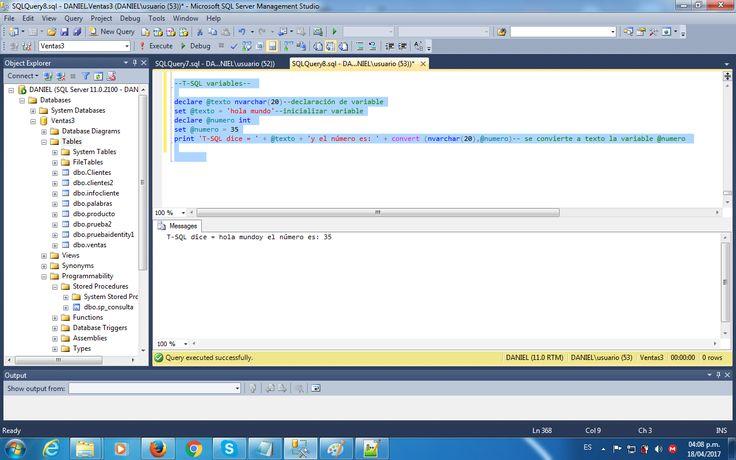 T-SQL Variables2