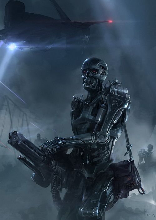 Terminator. needless to say- kinda a freaky movie- in the 80's, terrible special effects sort of way