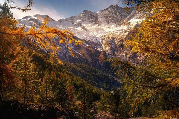 Saas-fee - Switzerland. Alps autumn, Saas-fee
