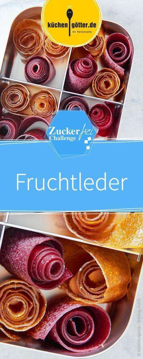 Fruchtleder ist eine gute zuckerfreie Alternative zu süßem Fruchtgummi.