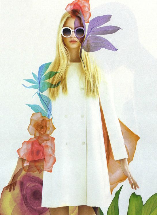 Nastya Kusakina by Egor Vasilyev for Interview Russia May 2012. Love the graphic florals and big bug-eyed glasses.