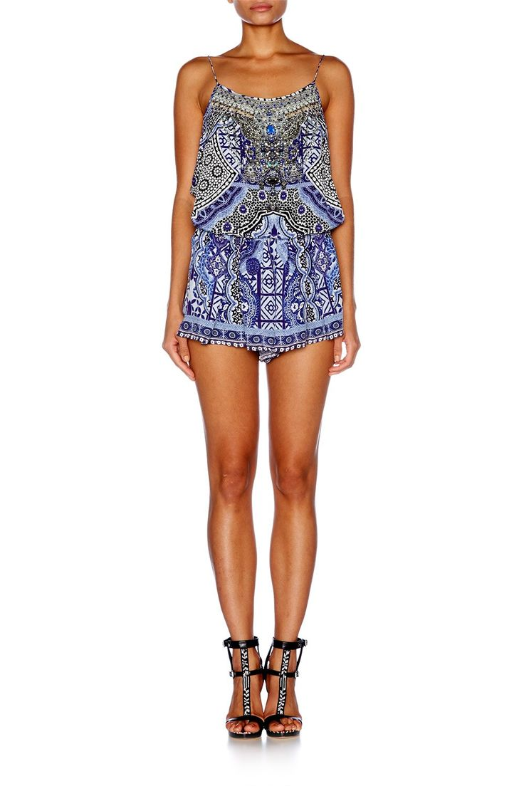 UNDER THE MEDINA MOON SHOESTRING STRAP PLAYSUIT - New Arrivals | CAMILLA