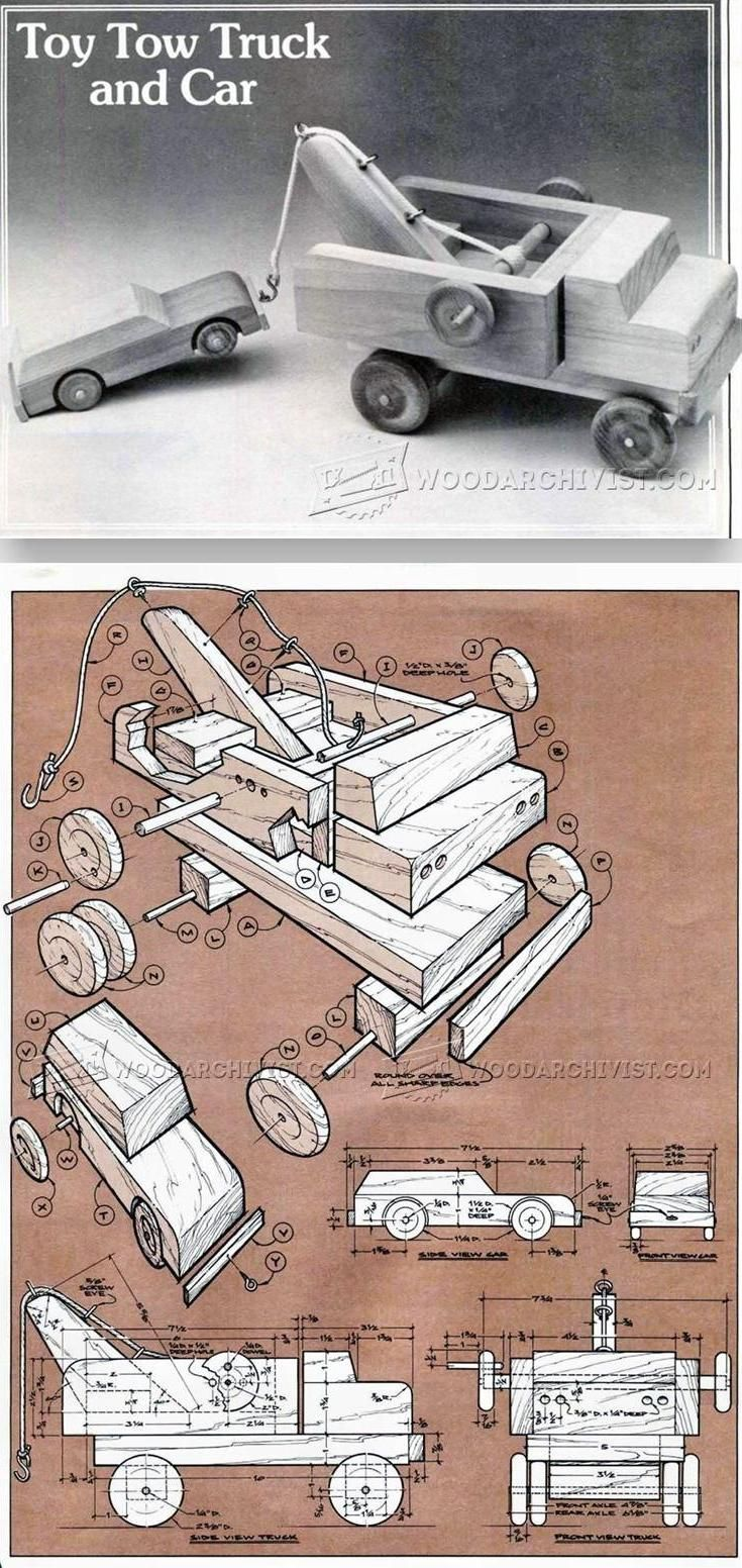 wooden toy tow truck plans - wooden toy plans and projects