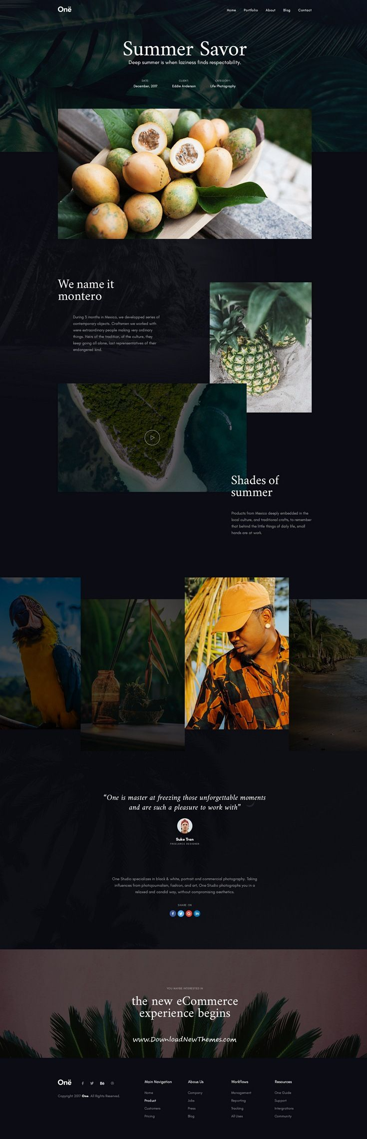 Onne is clean and modern design multipurpose PSD #template for #portfolio showcase #website with 21+ niche homepage layouts and 54 layered PSD files to live preview & download click on Visit