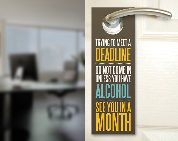 Funny office door hangers #office #funny #graphicdesign
