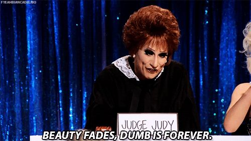 Bianca Del Rio as Judge Judy on the Snatch Game, RPDR Season 6 #WordsToLiveBy