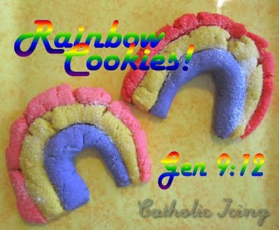 noahs arc rainbow cookies godly play pinterest how