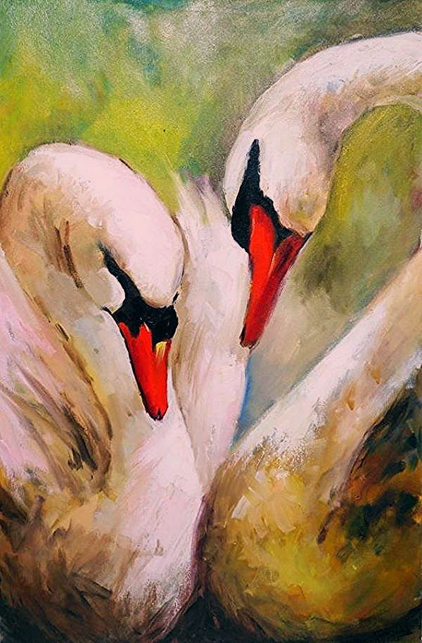 45 Easy And Beautiful Canvas Painting Ideas For Beginners To Try Large Canvas Painting Swan Painting Bird Paintings On Canvas