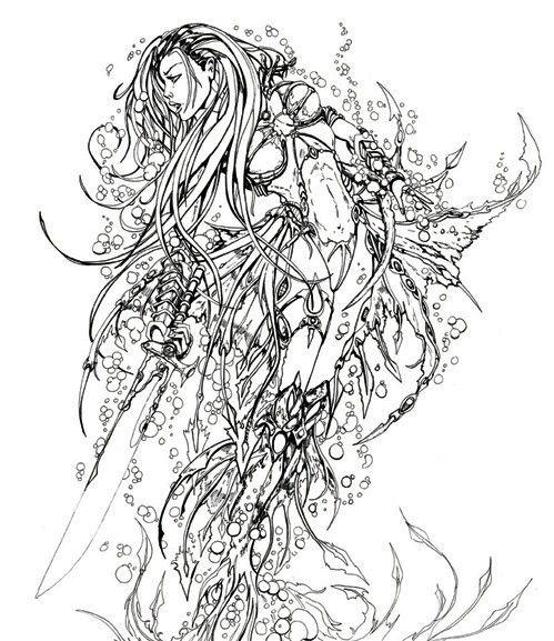 mermaid - Coloring Pages Mermaids Realistic