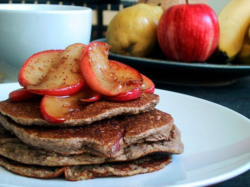 Apple Cinnamon Protein Pancakes #Recipe