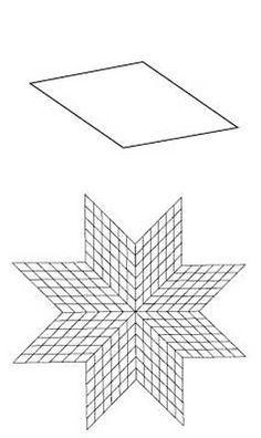 English Paper Piecing 8 Point Diamond Lone Star Pattern