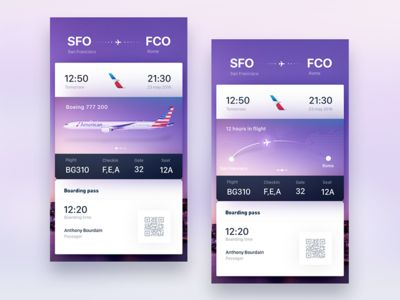 Tickets for Tinder Travel concept exploration by gleb