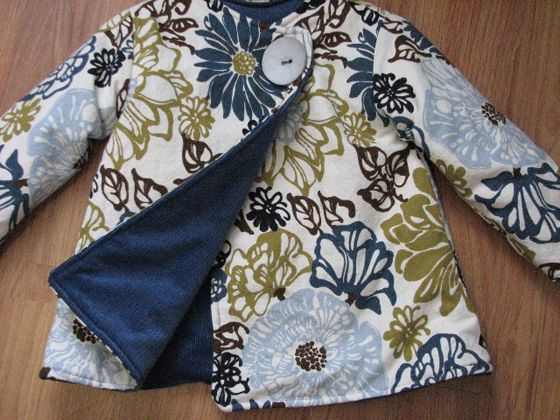 unisex reversible coat from Chicken Hill #diy #eco #kids