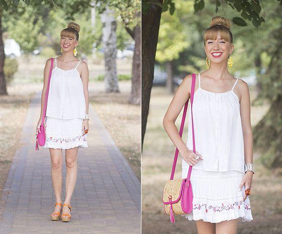 Get this look: http://lb.nu/look/7724788  More looks by Julia F.: http://lb.nu/madeinkyiv  Items in this look:  Zara Top, Monsoon Skirt, Bershka Straw Satchel, Bershka Sandals   #casual #street #vintage