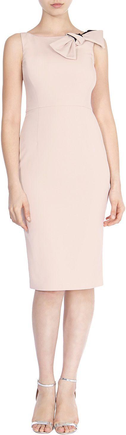 Womens blush darcia-may bow dress from Coast - £139 at ClothingByColour.com