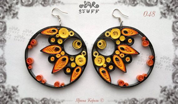 Quilled Paper Dangle Earrings