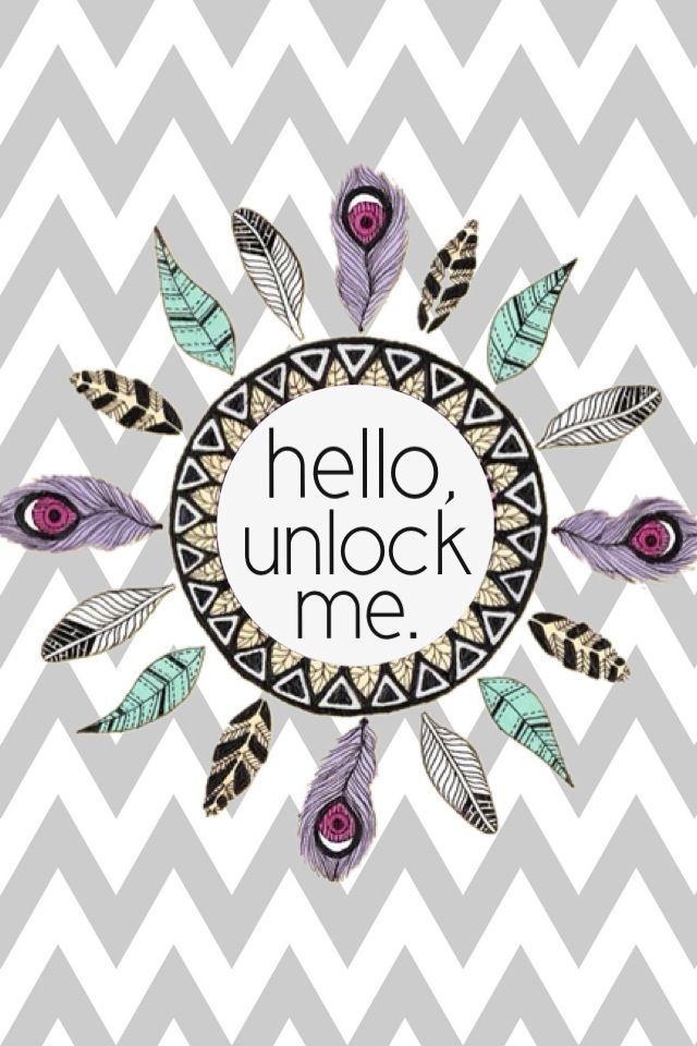 Fond d'écran iphone hello, unlock me