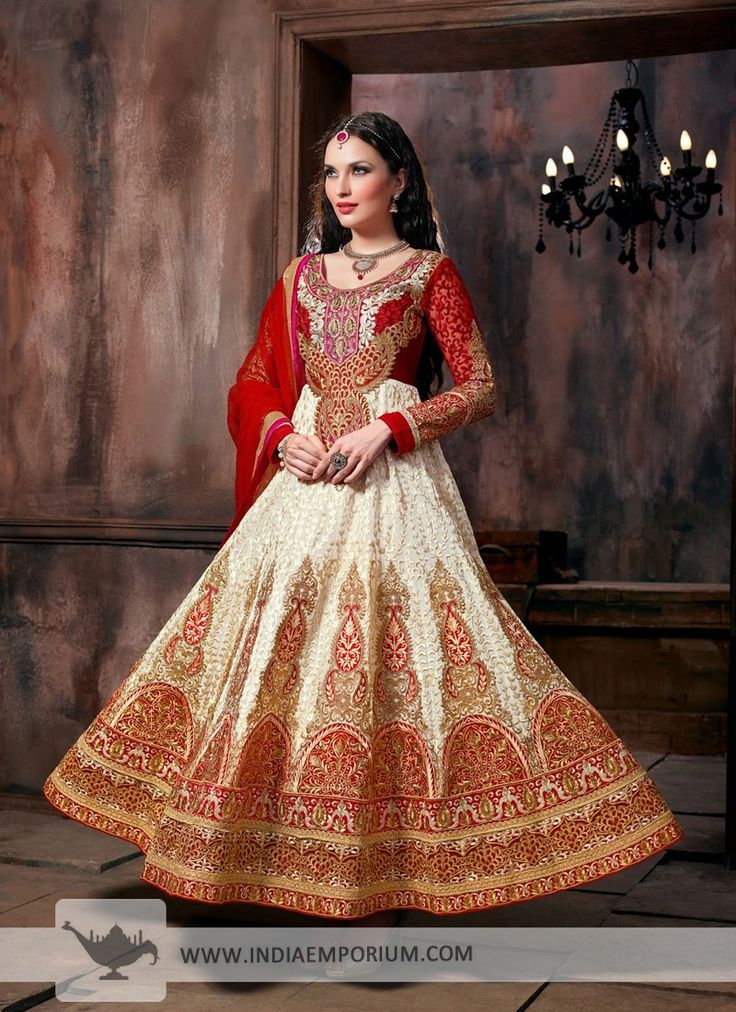 #Anarkali Suit with Resham Embroidery