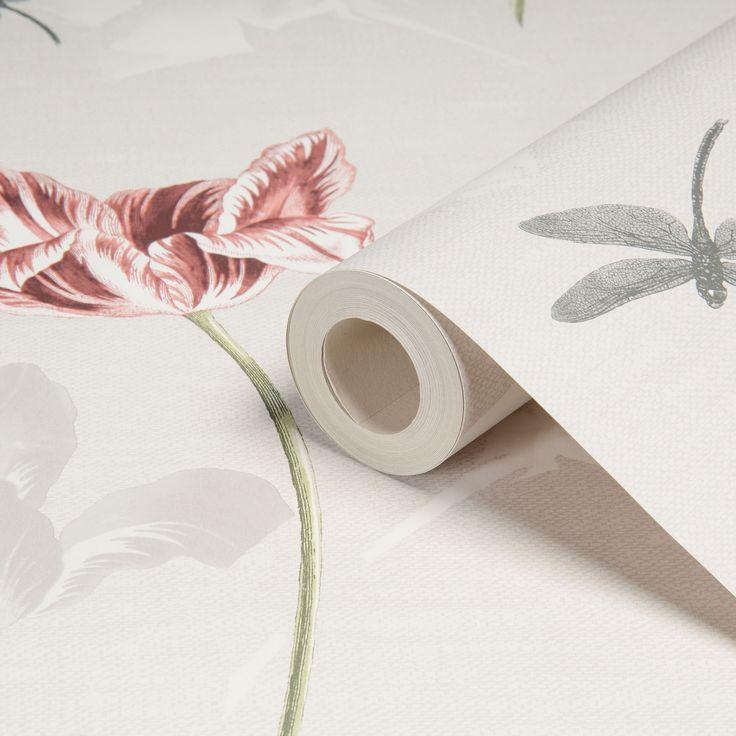 Dulcie Red Floral Wallpaper | Departments | DIY at B&Q