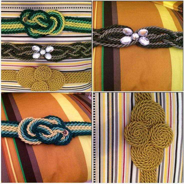 Cinturones en tonos dorados y verdes.... Disponibles en nuestro tallercito... Los tenemos de muchos colores y pronto nuevos y diferentes complementos