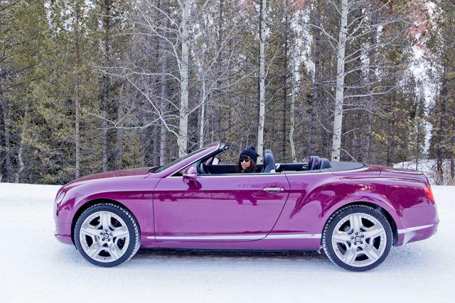 purple bently.. yes please