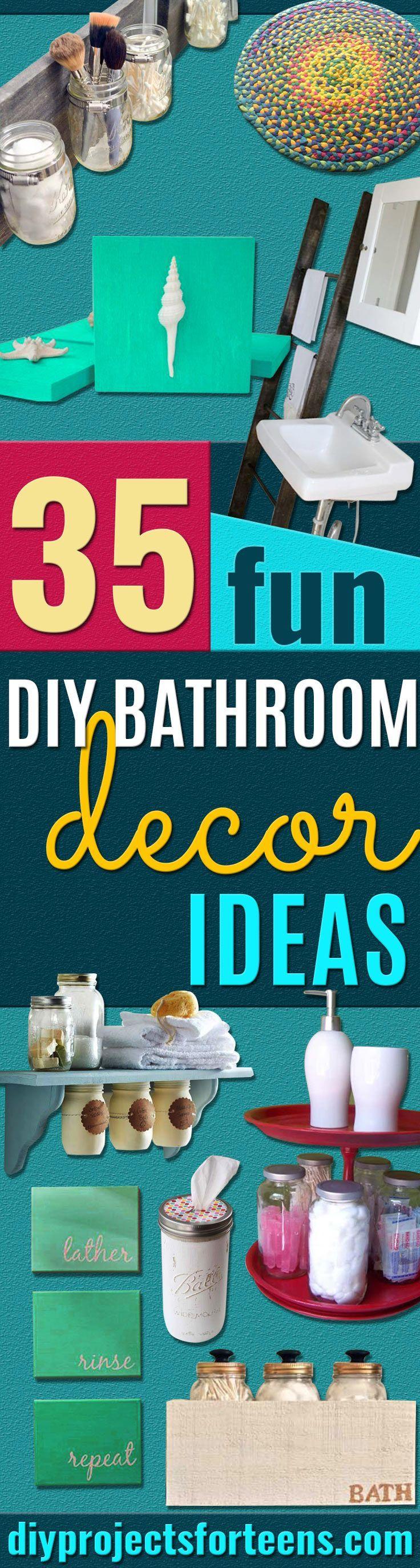 35 fun diy bathroom decor ideas you need right now - Decorating On A Dime