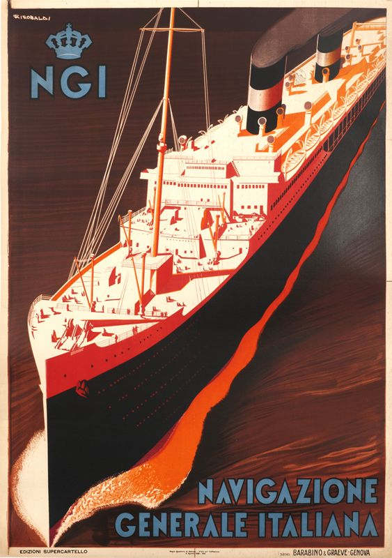 Navigazione Generale Italiana by Riccobaldi, Giuseppe   Vintage Posters