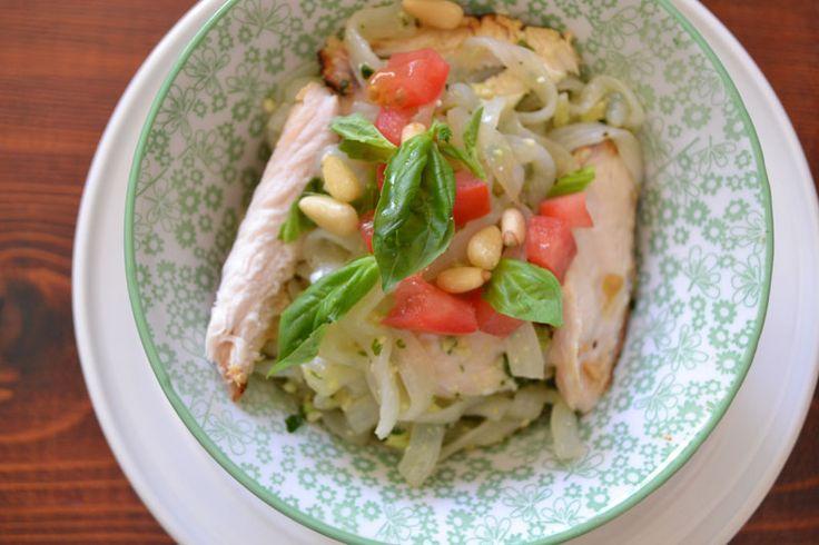 Chicken Fettuccine with  Avocado Pesto