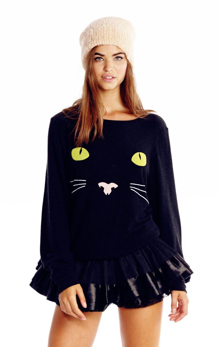 the wildfox halloween black cat baggy beach jumper - Clothes Halloween