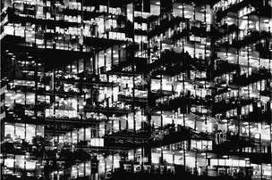 In pictures: A new vision of London Metropole by photographer Lewis Bush transforms London into black and white.