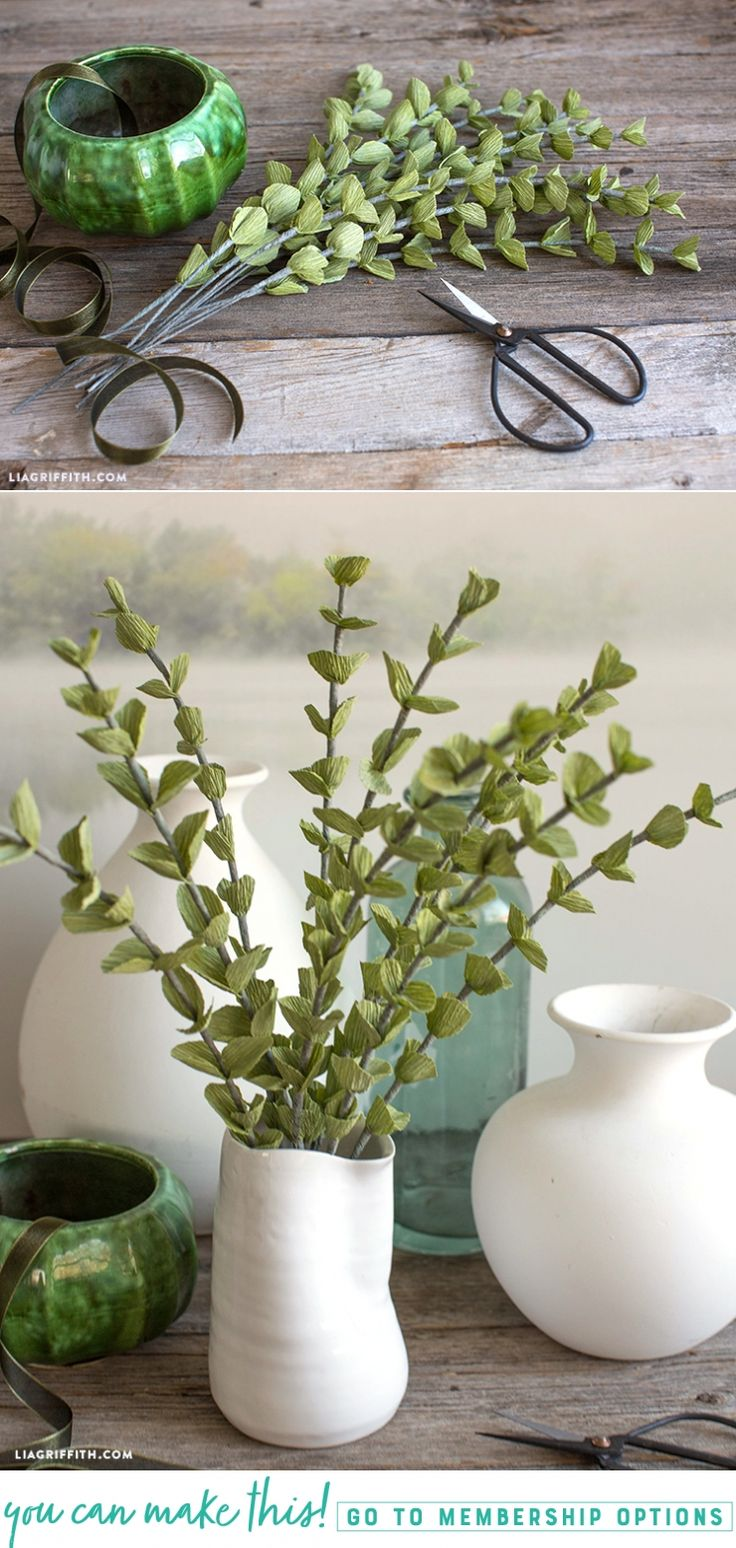 Craft Yourself a Spa Day  These crepe paper eucalyptus branches remind us of just how calming creativity can be. If you'd like to join us in adding an aura of peaceful paper craft to your space, just follow along with our stress-free tutorial here https://liagriffith.com/crepe-paper-eucalyptus-branches/ * * * #crepepaper #crepepaperrevival #crepepaperflower #crepepaperflowers #eucalyptus #peace #calm #tranquility #tranquil #craft #diy #diyidea #diyideas #diyinspiration #diycraft #diycrafts…