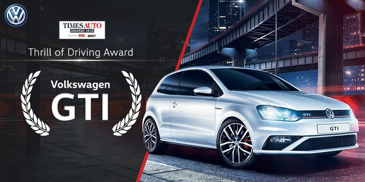 Changing the way driving is experienced with the Thrill of Driving Award for the Volkswagen GTI at the Times Auto Awards.
