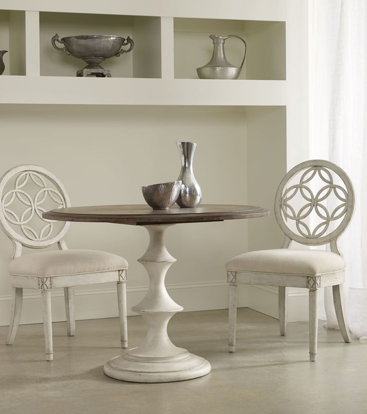M lange brynlee pedestal dining table love the white so for Looking for round dining table